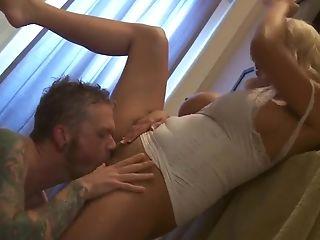 Bathroom, Blonde, Blowjob, HD, Pussy, Stormy Daniels,