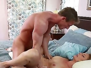 Ass, Ball Licking, Big Cock, Big Natural Tits, Big Tits, Blonde, Blowjob, Bold, Brenda James, Cumshot,