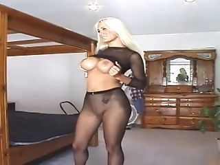Ass, Babe, Big Tits, Blonde, Fake Tits, MILF, Model, Nylon, Pantyhose, Solo,