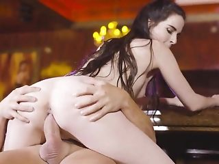 Babe, Bar, Blowjob, Boobless, Cowgirl, Cum In Mouth, Cumshot, Doggystyle, HD, Riding,