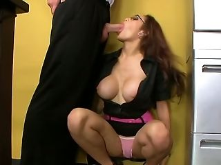Adrenalynn, Beauty, Big Tits, Boss, Cute, Glasses, Horny, Office, Redhead, Slut,