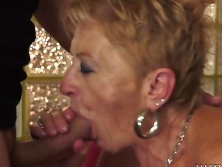 Blowjob, Fucking, Granny, Hardcore, Horny, Licking, Mature, Natural Tits, Old And Young, Oral Sex,