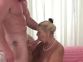 Big Tits, Blonde, Blowjob, Creampie, Granny, Hairy, Hardcore, Natural Tits, Oral Sex, Pantyhose,