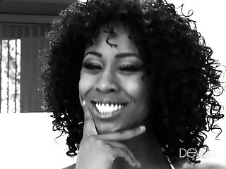 Black, Casting, Cute, MILF, Misty Stone, Panties, Pornstar, Reality, Softcore, Solo,