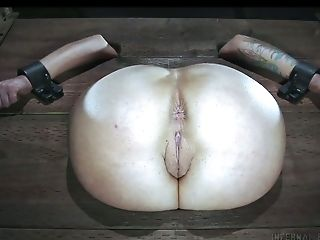 Babe, BDSM, Bold, Clamp, Dildo, Pain, White,