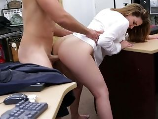 Amateur, Babe, Big Ass, Big Tits, Brunette, Cougar, Desk, Dick, Dirty, From Behind,