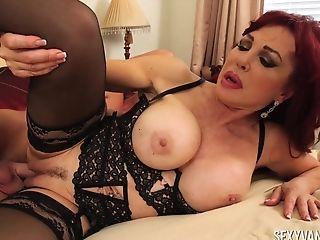 Ball Licking, Big Tits, Blowjob, Couple, Cowgirl, Doggystyle, Fake Tits, Handjob, Hardcore, High Heels,