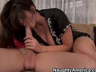 Alison Tyler, Big Ass, Big Cock, Big Tits, Blowjob, Bold, Brunette, Facial, HD, Natural Tits,
