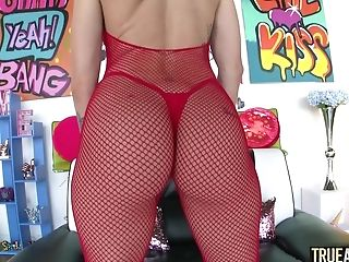 Anal Sex, Ass Fucking, Big Ass, Blowjob, Clamp, Couple, Cowgirl, Doggystyle, Fingering, Fishnet,