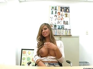 Big Tits, Blonde, Blowjob, Esperanza Gomez, Hardcore, HD, Office, POV, Teen,