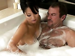 Asa Akira, Bathroom, Beauty, Cute, Ethnic, Horny, Massage, Seduction, Slut, Soapy Massage,