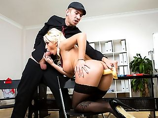 Amazing, American, Babe, Big Tits, Blonde, Blowjob, Boss, Business Woman, College, Couch,