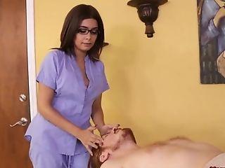 Bra, Couple, Fetish, Glasses, Massage, Teen, Tied,