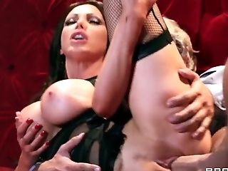Big Ass, Big Cock, Big Tits, Blonde, British, Brunette, Couch, Fucking, HD, Nikki Benz,