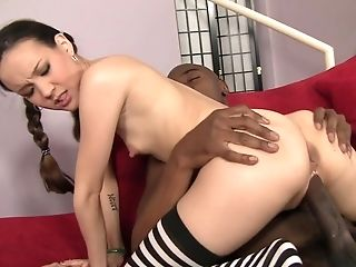 Amai Liu, Black, Blowjob, Brunette, Ethnic, Facial, Hardcore, Natural Tits, Oral Sex, Petite,