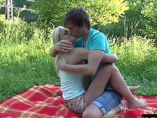Beauty, Blonde, Boyfriend, Couple, Forest, Hardcore, Outdoor, Reality, Shorts, Teen,