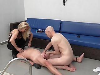 Ballbusting, Balls, BDSM, Boots, Femdom, HD, Kissing, Submissive,