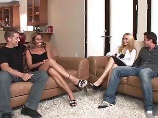 Adriana Deville, Blowjob, HD, Husband, Leslie Love, MILF, Wife,